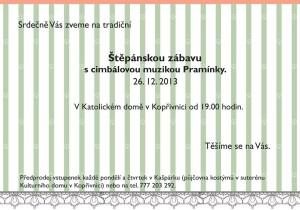 Pozvánka na Štěpánskou zábavu
